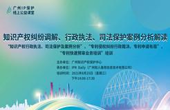 """2021""""广州IP保护""""线上公益课堂(九)   知识产权纠纷调解、行政执法、司法保护案例分析解读培训"""