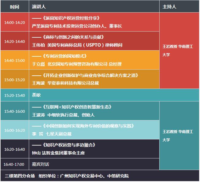 2017广东知识产权交易博览会,日程正式发布!