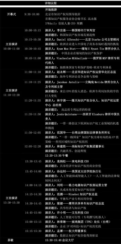 「2017 全球知识产权生态大会」今日将在京召开!(详细议程&演讲嘉宾)