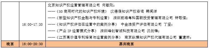 蓄势待发!中国知识产权商业化运营大会(IPCOC2018)议程公布