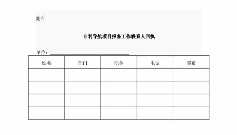 国知局:2018「专利导航项目」备案工作开展通知!