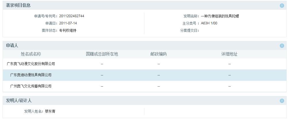 索赔1000万元!奥飞娱乐诉三宝动漫玩具等3家公司侵犯专利权(诉讼公告全文)
