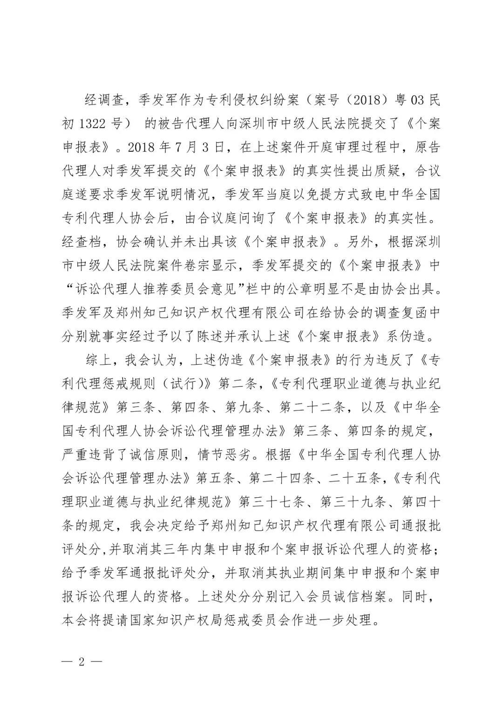 6家知识产权代理公司因不正当竞争等被通报批评(处分决定书全文)