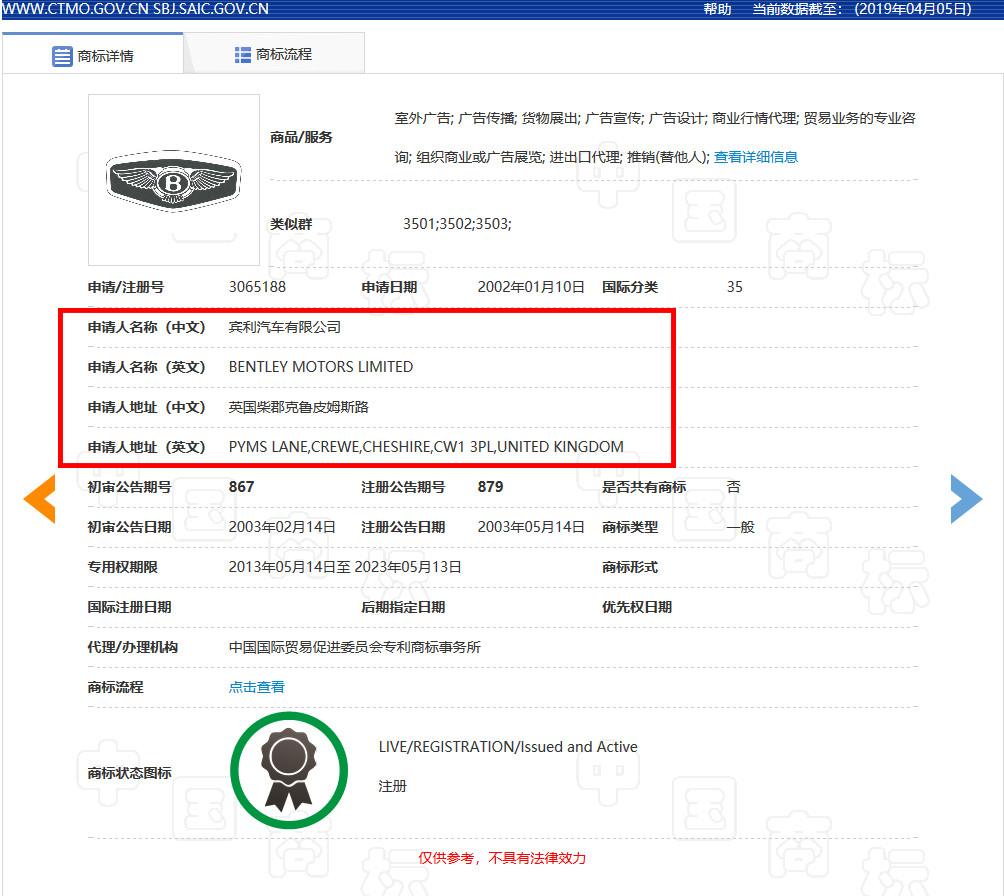 宾利汽车申请300余件宾利商标,被认定为非正常申请!什么情况?