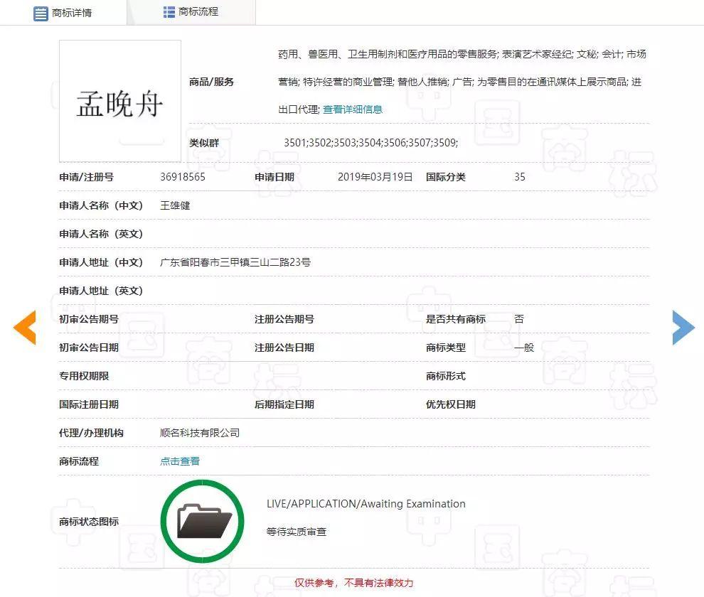 """""""任正非""""、""""孟晚舟""""姓名被抢注为商标?"""
