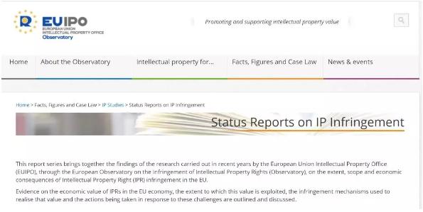 欧盟知识产权局发布2019知识产权侵权报告