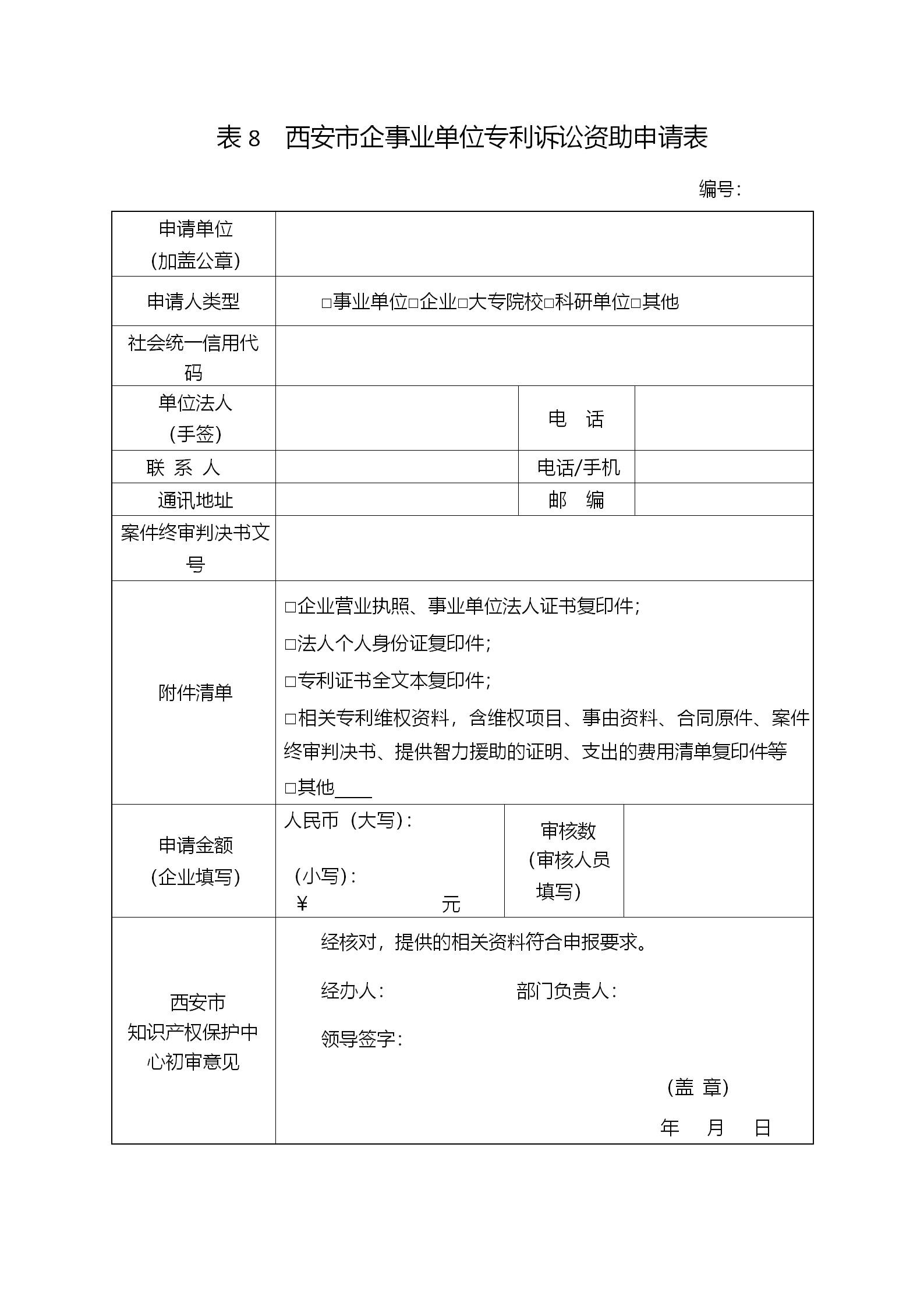 西安征集2018年度西安市专利资助(奖补)项目