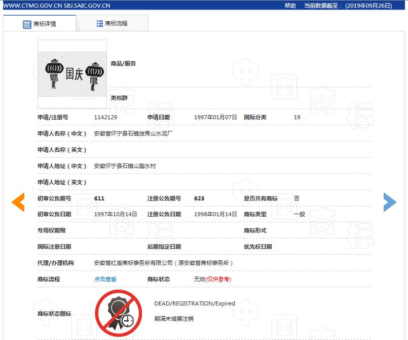 """56件关于""""国庆""""字样的商标申请记录,它们最后都怎样了?"""