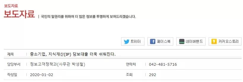 韩国知识产权局减免中小企业知识产权注册费