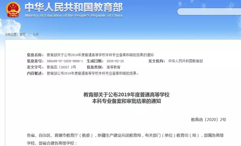 """2020年新增 5 所高校设置""""知识产权(法学)本科专业"""""""