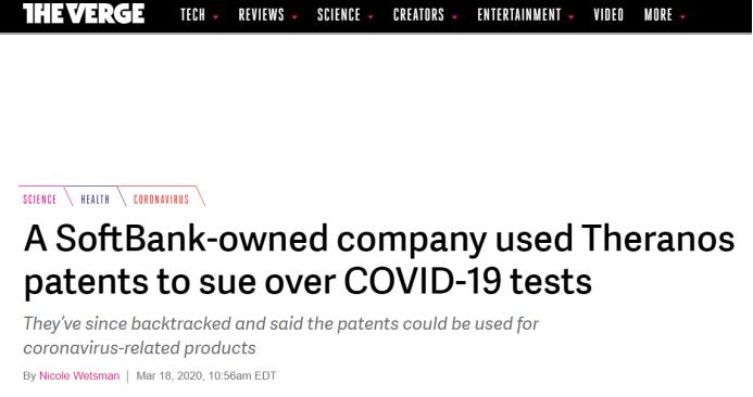 震惊!新冠病毒检测遭专利勒索,专利流氓趁疫情横行