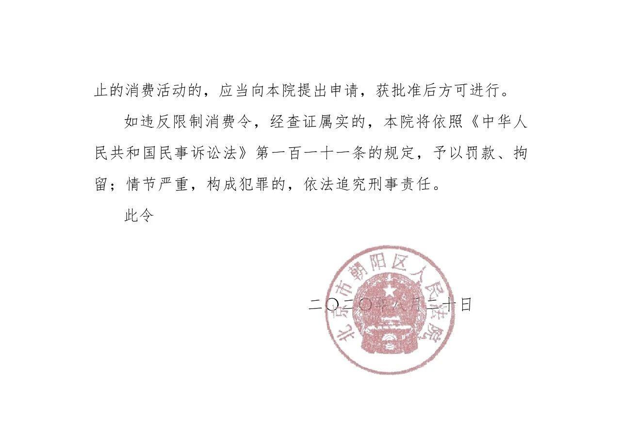 涉知识产权合同纠纷,乐视网董事长刘延锋被限制消费