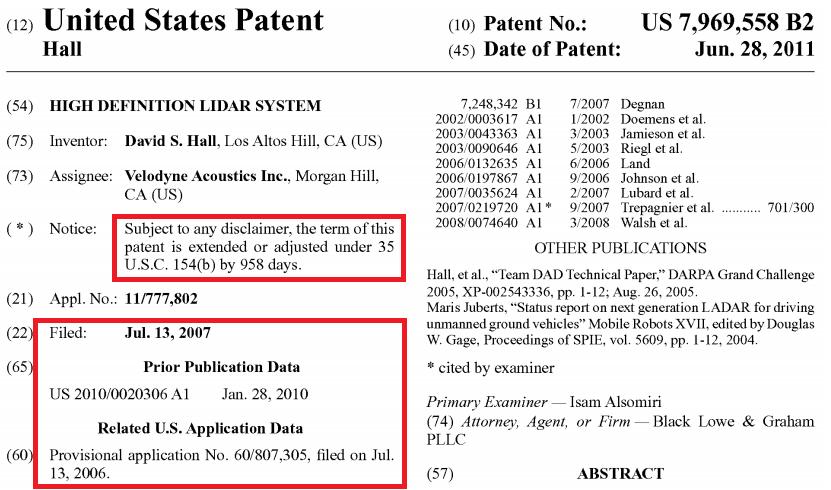 激光雷达一场专利战!烧掉3.6亿两轮融资额