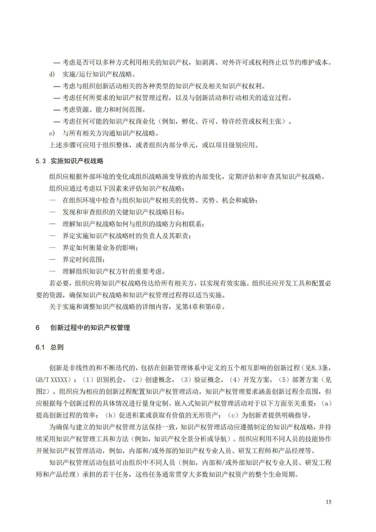 国家标准《创新管理知识产权管理指南 (征求意见稿)》全文公布