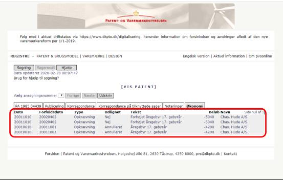 丹麦专利法律状态和年费查询步骤