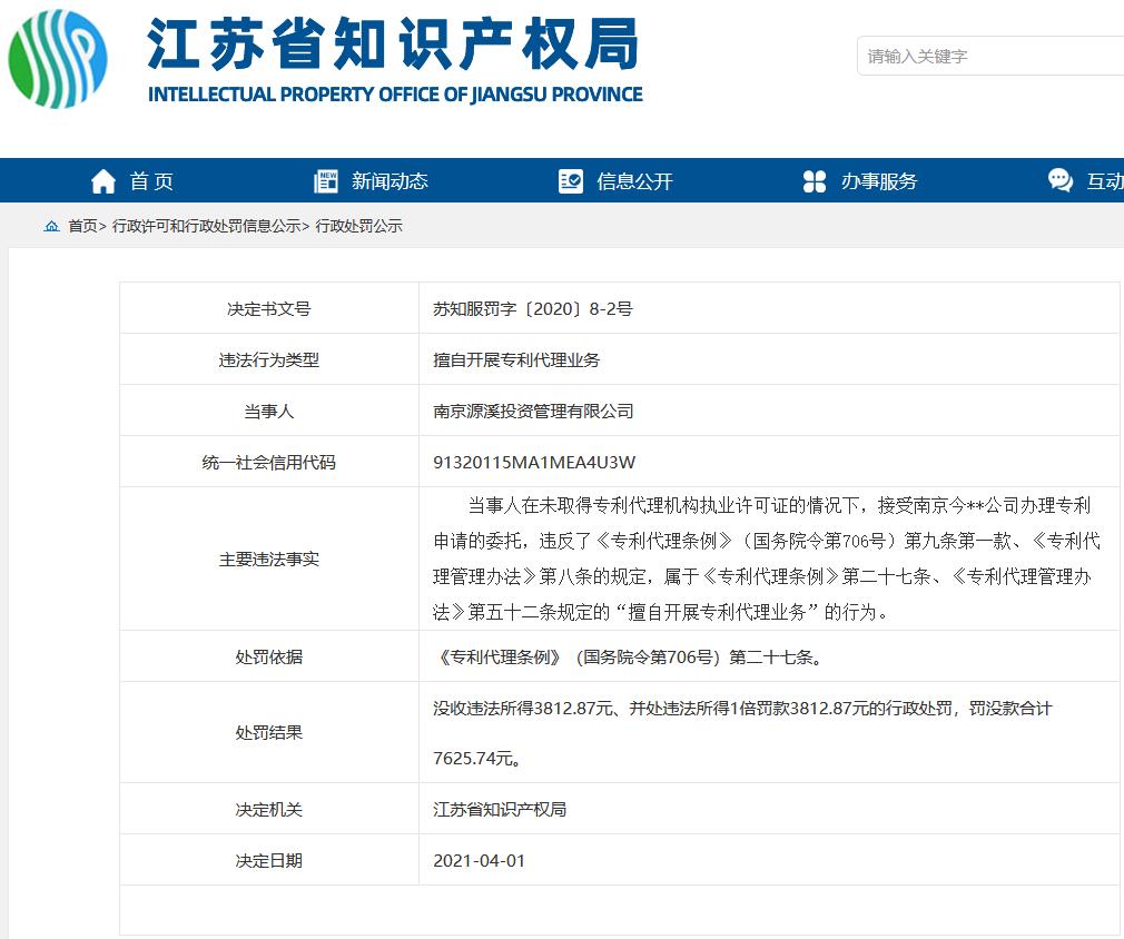 擅因自开展专利代理业务,这两家公司被罚!